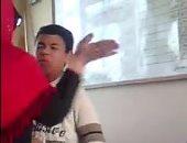 فيديو.. معلمة تعتدى بالضرب على طالب بمدرسة الجنينة بالدقهلية