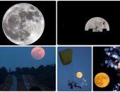 البحوث الفلكية: قمر عملاق وردى يزين السماء مساء اليوم ويصل ذروته فجر الغد