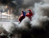 صور.. إصابات بالرصاص فى اشتباكات بين شرطة الاحتلال وفلسطينيين بالضفة