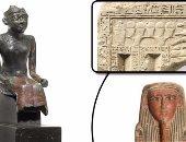 """صور.. مزاد """"بونهامز"""" يبيع الآثار المصرية بثمن بخس.. القطعة الأغلى بـ31.250 جنيه إسترلينى.. وتابوت فرعونى بـ23.750.. و937 إسترلينى لتمثال أوزوريس.. وتمثال لشخص جالس من البرونز بألفى جنيه"""