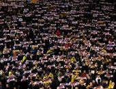 صور.. تظاهرات بكتالونيا تطالب بالإفراج عن ناشطین مؤیدین لاستقلال الإقلیم