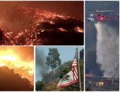 حرائق الغابات تمتد إلى المدن الساحلية بولاية كاليفورنيا