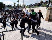 دهس وقنابل غاز فى اشتباكات بين قوات الاحتلال والفلسطينيين