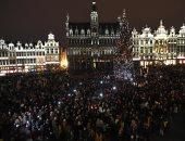 """صور.. مظاهرة فى بروكسل تحت شعار """"استيقظى يا أوروبا سندافع عن الديمقراطية"""""""
