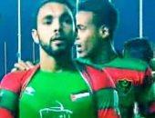 فيديو.. لاعب يتضامن مع القضية الفلسطينية بإحتفال رائع بالدورى الجزائرى