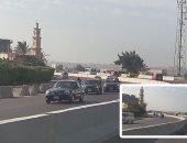 """تعزيز الخدمات المرورية والأوناش فى محيط إغلاق مطلع """"الدائرى"""" باتجاه الرماية"""