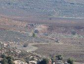 فيديو.. مستوطنون يجرفون الأراضى ويحرقون أشجار الزيتون جنوب نابلس