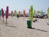 """""""كنا فين"""".. شاطئ بورسعيد يتحول من مأوى للحيوانات إلى مكان للاستمتاع"""