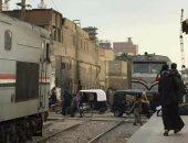 عودة حركة القطارات بعد توقفها نصف ساعة بالقليوبية