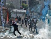 إصابة 10 فلسطينيين فى مواجهات مع قوات الاحتلال جنوب بيت لحم