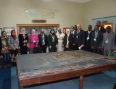 صور.. وفود المؤتمر الجغرافى الدولى الأول فى جولة بالجمعية الجغرافية المصرية