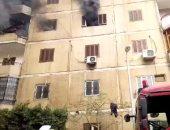 قارئ يشارك بفيديو حريق شقة بالحى العاشر فى مدينة نصر