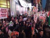"""المصريون والعرب فى أمريكا يهتفون أمام البيت الأبيض: """"القدس لنا"""".. صور"""