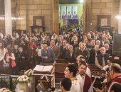 """صور.. الكنيسة تبدأ صلوات عشية لإحياء الذكرى الأولى لشهداء """"البطرسية"""" بحضور عائلاتهم"""