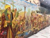 شاهد الفنان محمد هارون يتحدث عن جدارية النبى نوح