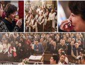 أهالى شهداء البطرسية يؤدون الصلاة فى الذكرى الأولى لتفجير الكنيسة