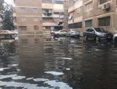 """صور.. شكوى من مياه الصرف تغرق شوارع """"الجمعية التعاونية"""" فى ترسا"""