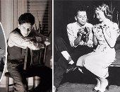 """فرانك سيناترا فى صور نادرة لم ترها من قبل.. يتناول الـ""""pancakes"""" فى كواليس أحد الأعمال السينمائية عام 1953.. وتعلم """"الحياكة"""" على يد """"جين باول"""".. واهتم بأناقته فظهر وهو يحلق """"شنبه ودقنه"""""""