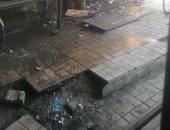 صور.. شكوى من عدم نظافة مداخل معهد أورام طنطا