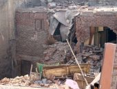 انهيار جزئى بعقار مكون من 3 طوابق دون حدوث إصابات بحى غرب سوهاج