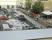 شكوى من تراكم القمامة داخل المستشفى الرئيسى الجامعى بالإسكندرية