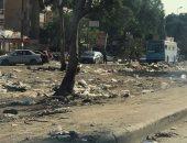 صور.. تراكم القمامة فى الجزيرة الوسطى بأحد شوارع مدينة نصر