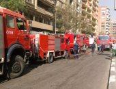 صور.. أمن القاهرة: السيطرة على حريق باب الشعرية والنيران امتدت لـ3 عقارات
