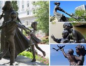 صور.. 10 تماثيل من حول العالم جسدت لحظات خاصة بين الأم وأطفالها