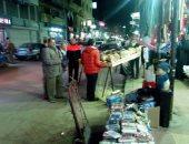 صور.. حملة إشغالات ليلية وتراخيص تجارية لضبط شوارع العريش