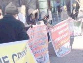 مظاهرات أمام الأمم المتحدة ضد انتهاكات إيران لحقوق الإنسان