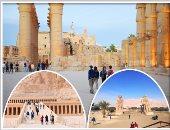 صور.. إقبال كبير من السائحين الأجانب على زيارة معابد الأقصر التاريخية