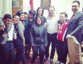 رئيس التليفزيون مجدى لاشين يكرم أبطال مصر لذوى الاحتياجات الخاصة