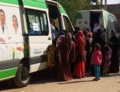 """صور.. """"علشان تبنيها"""" بالأقصر تعلن الكشف على 850 مواطنا فى قافلة بقرية المدامود"""