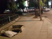 قارئ يحذر من بلاعة بدون غطاء فى شارع أبو قير بالإسكندرية ويطالب بصيانتها