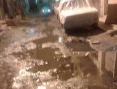 مياه المجارى تغرق شارع 10 فى السيوف بالإسكندرية ومطالب بصيانة شبكة الصرف