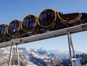 صور.. سويسرا تدشن أعلى قطار معلق فى العالم من أحد منتجعات جبال الألب