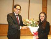 صور.. وزير الثقافة التونسى يكرم سلاف فواخرجى
