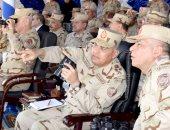 وزير الدفاع يشهد المرحلة الرئيسية للمشروع التكتيكى بالذخيرة الحية بدر 2017