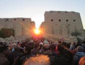3 آلاف سائح شاركوا فى ظاهرة تعامد الشمس على رمسيس الثانى