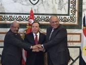 وزراء خارجية مصر وتونس والجزائر يؤكدون رفضهم لأى تدخل خارجى فى ليبيا
