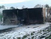 الحماية المدنية فى بنى سويف تسيطر على حريق نشب داخل حقل بترول