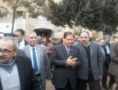 صور .. محافظ الغربيه يفتتح وحدة العناية بمستشفى قرانشو ويتفقد قرى بسيون
