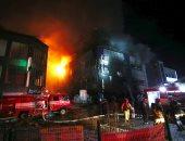 اندلاع حريق ضخم بمبنى سكنى فى مانشستر البريطانية