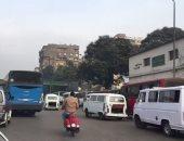 كثافة مرورية بشارع الهرم فى الاتجاه القادم من المريوطية للجيزة