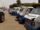 موقف ميكروباص عشوائى يسبب تكدسا مروريا بميدان الشيخ رمضان فى شبرا