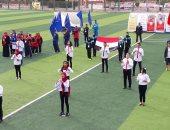 """صور.. طلاب التربية الفكرية يتغنون بأغنية """" تحيا  مصر"""" بلغة الاشارة"""
