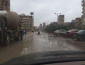 أمطار غزيرة على سواحل دمياط وتوقف حركة الصيد فى عزبة البرج
