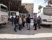 محافظ المنيا يوجه بتطوير مشروع النقل الجماعى خلال جولة تفقدية