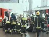 شاهد.. لحظة سقوط حافلة فى موسكو ومقتل 5 أشخاص