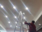 الانتهاء من تجديد الإضاءة بالصالة الموسمية بمطار القاهرة